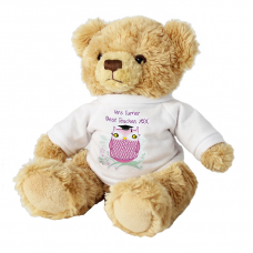 Personalised Miss Owl Message Bear