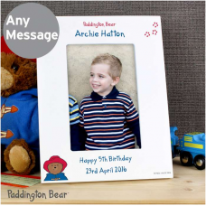 Personalised Paddington Bear 4x6 Photo Frame