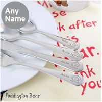 Personalised Paddington Bear Cutlery Set